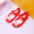 14-17cm Summer Mini Melissa Shoes Bow Princess Jelly kids Sandals Children Beach Shoes Cute Bowknot Girl Sandals Sapato Menina