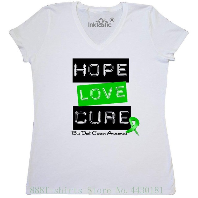 4ef7ccf57 Women s Tee - Bile Duct Cancer Hope Love Cure Women s V - Neck T Shirt -