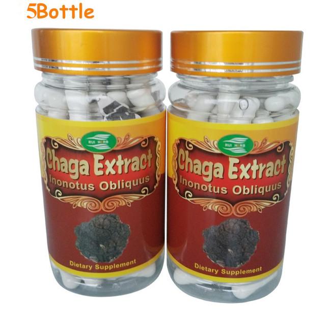 5 Garrafas de Chaga Extrato 30% Polissacarídeos Da Cápsula 500 mg x 450 pcs frete grátis