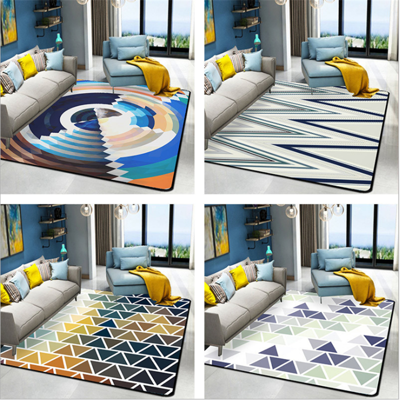 AOVOLL Living Room Carpets Abstraction Nordic Bedroom Rugs And Abstract Fashion Carpet For The Modern Living Room Floor Mats