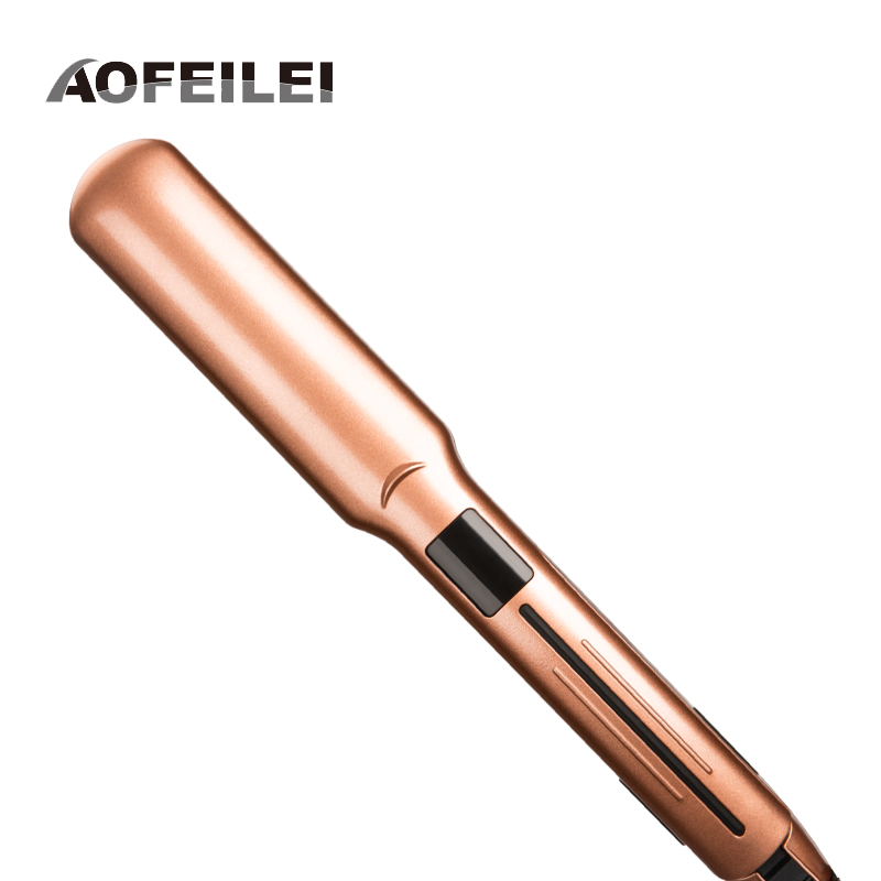 Professional Electric Negative Ions Tourmaline Ceramic Hair Straightener Flat Iron Hair Straightening Irons Salon Styling Tool kemei professional tourmaline ceramic hair straightener flat iron straightening irons styling tools lcd display with 2m cable p0