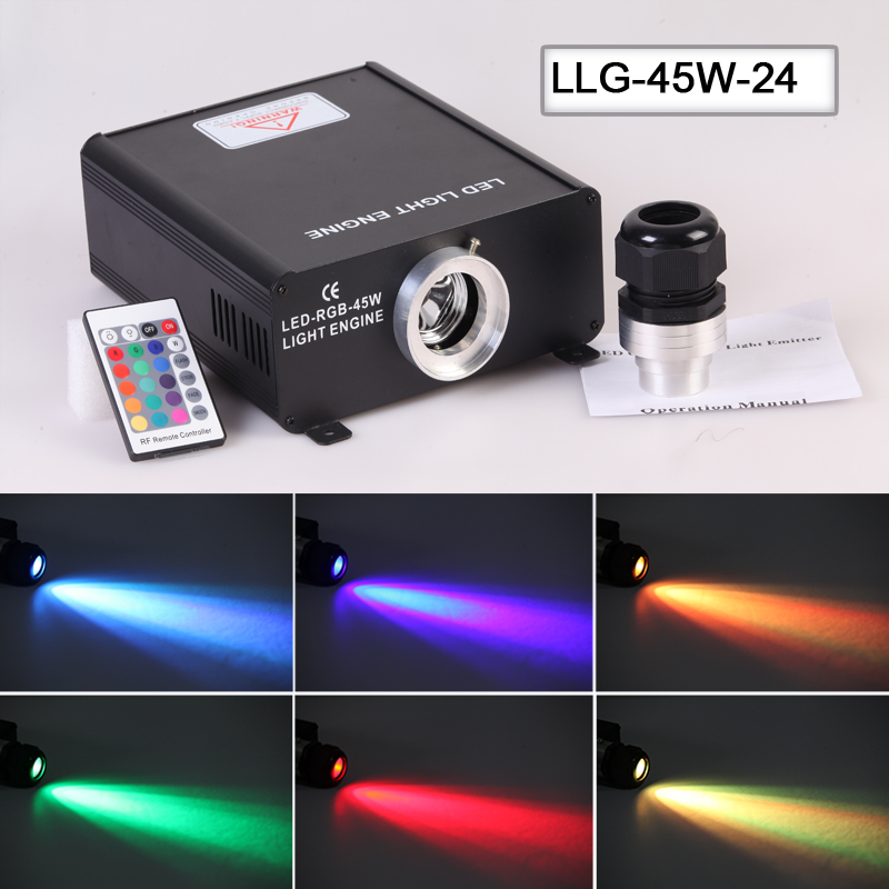 On sale Rgb Color change LED 45w Fiber Optic Light Source Engine Machine For Lighting rgb 45w led fiber optic engine 20key rf remote controller can be fixed in 8 colors six color change mode with flicker effect
