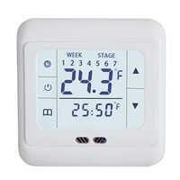 1 pçs floureon tela de toque quarto aquecimento por piso termostato termorregulador 220 v piso sistema aquecimento controlador temperatura