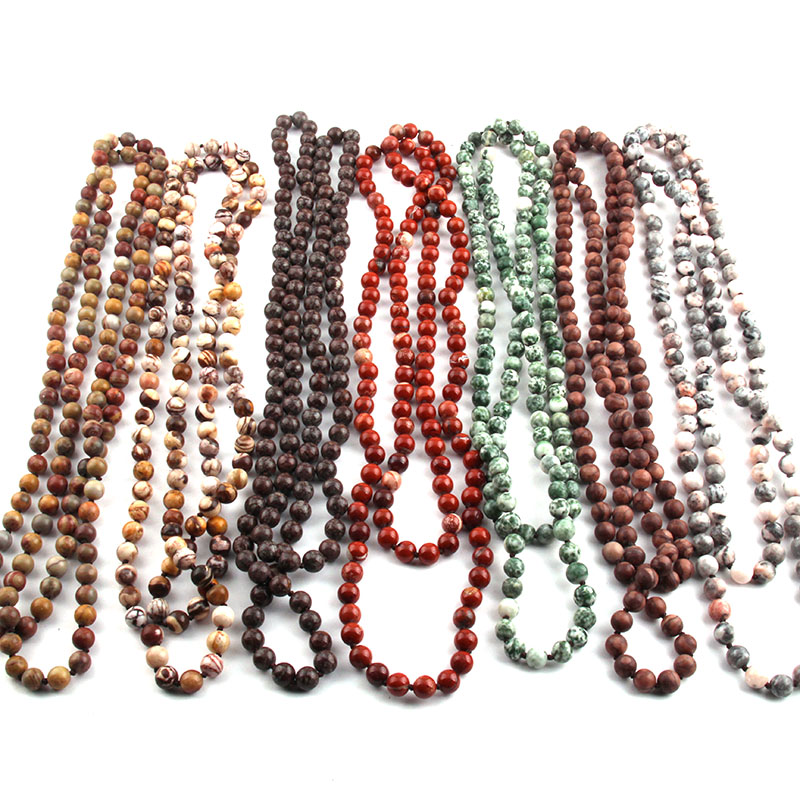Free Shipping Fashion Natural Semi Precious Stones Beads lon