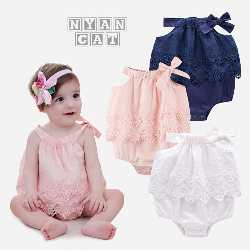Free 2018 New Ins 1pc Baby Suit Lace Romper Pants Summer Casual Wear Shorts Outfit Children Clothing Baby Wear