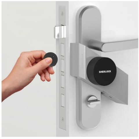 Sherlock lock S2 Bluetooth phone app update control Smart lock Keyless support remote key Electronic Door lock Silver/black S2 Karachi