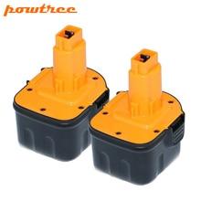 2X 2000mAh 12V DC9071 Rechargeable Battery For Dewalt DW9072 DW9071 DE9037 DE9071 DE9072 DE9074 DE9075 152250-27 L10