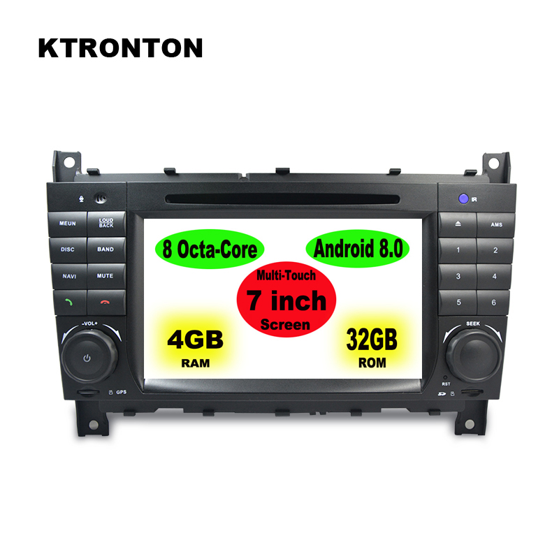 Android 8.0 or 8.1 Car DVD Player GPS for Mercedes Benz C Class W203 S203 C180 C200 Mercedes Benz CLK Class C209 W209 C208 W208