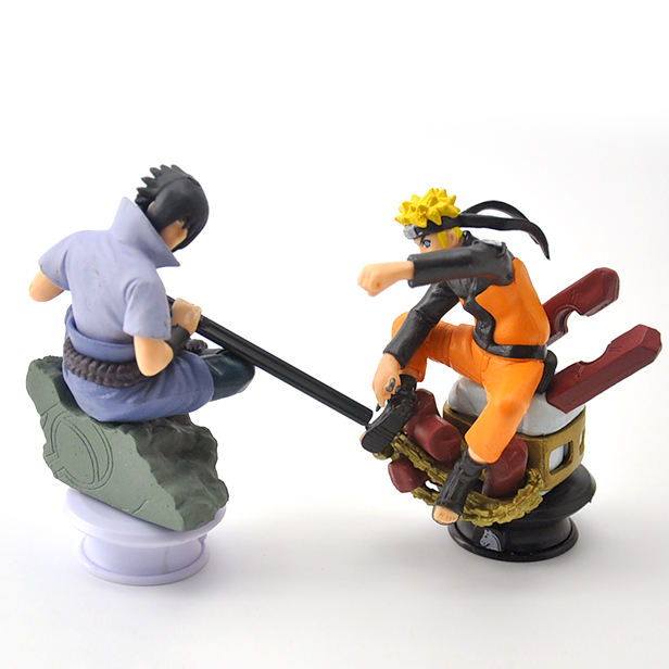 6pcs/lot 9.5cm Naruto Chess Action Figures Toys New Sasuke Naruto Shippuden Uzumaki Hinata Madara Kakashi Model Toy 2