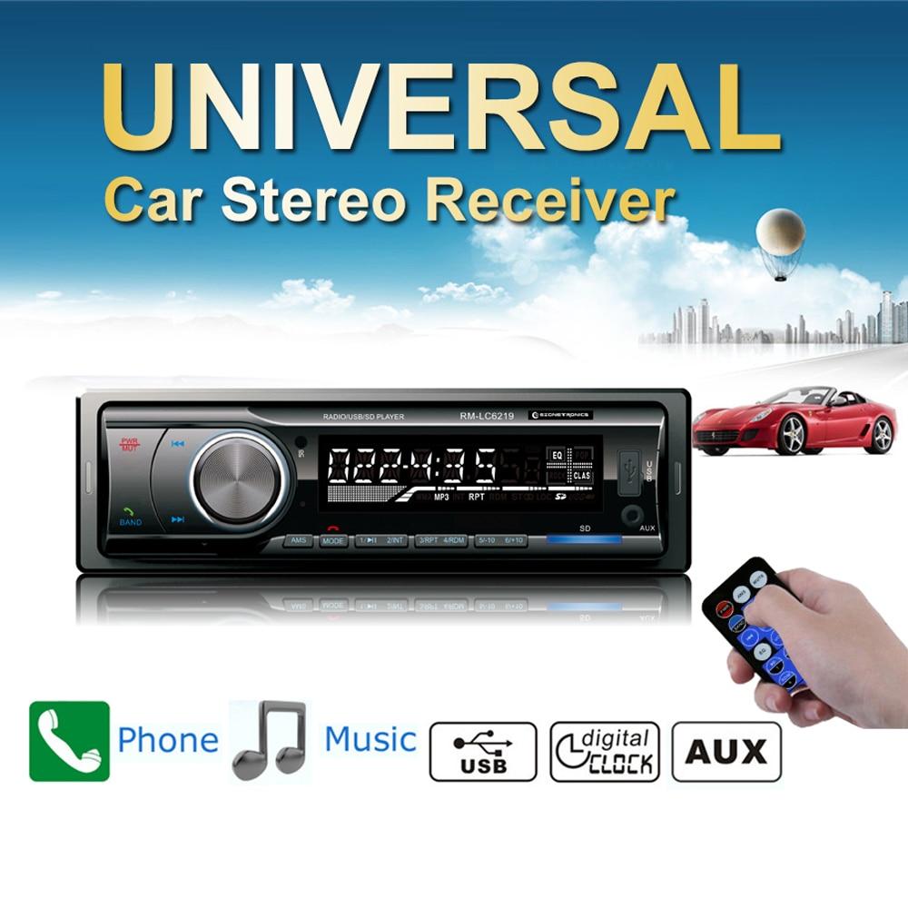 2018 Sale New Car Radio Stereo Player Bluetooth Phone Audio Auto AUX-IN MP3 FM/AM/USB/1Din/Remote Control 12V 4 x 45W Universal