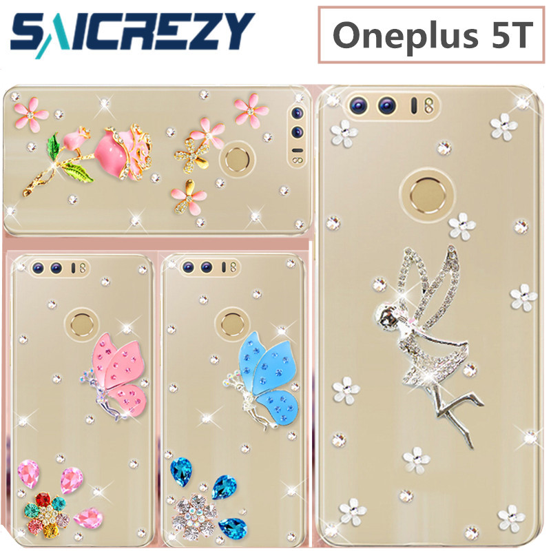 design crystal Rhinestone case cover coque For oneplus 5t 6 6T case A5010 bumper funda cover for one plus 6T 5T 6 5 3t case image