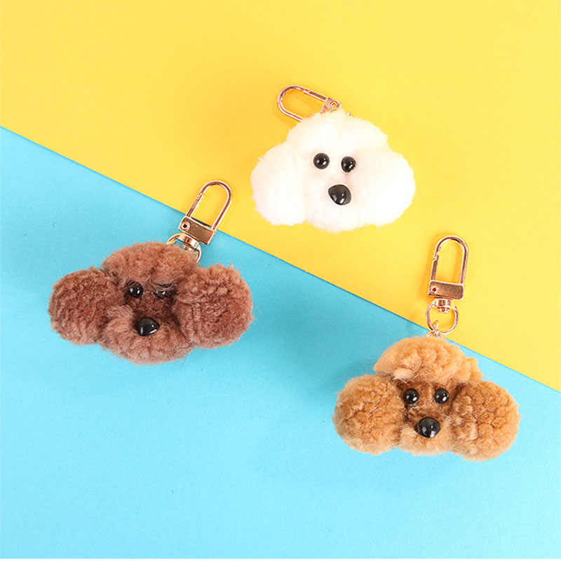 2019 Creative New Dog Pendant Keychain Cute Charms Key Chain Gifts for Women Girls Car Bag Accessories Key Ring