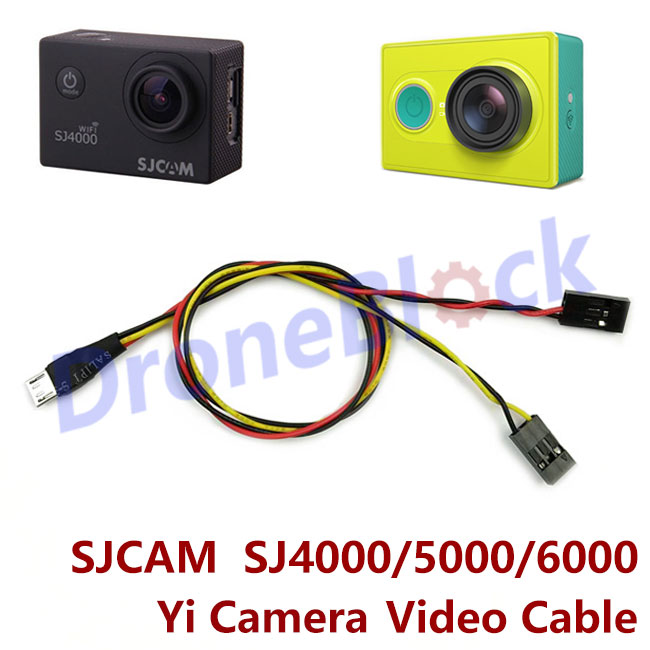 Video AV Output Cable Line TX Cable For SJ4000 SJ5000 6000 Sport Action Xiaomi Yi Camera FPV Rechargeable Micro USB Port