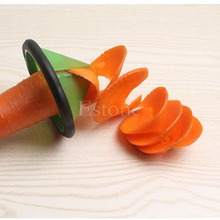 Creative Kitchen Supplies Spiral Vegetable Slicer Gadgets Carrot Cucumber Cutter-F1FB