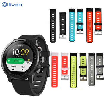 For Xiaomi Huami Amazfit stratos 2 2S Strap smart Watch bracelet Band 22mm Silicone Watchband For Amazfit Stratos 3 Watch Bands фото