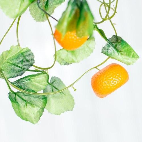 5 Stucke Von Obst Girlanden Kunstliche Orangen Kletterer Fur