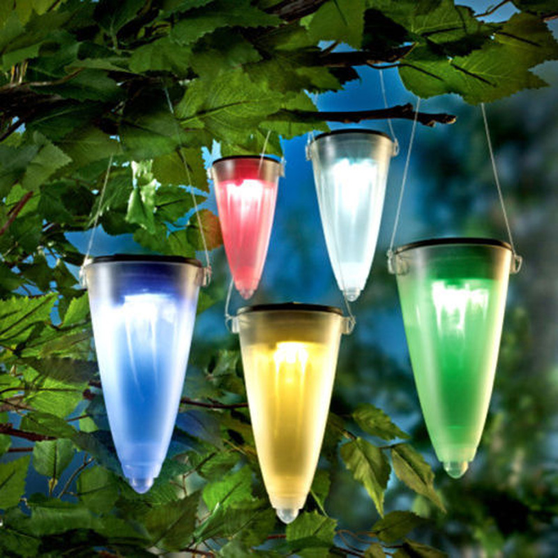 Solar Powered LED Light Tree Hanging Pathway Lawn Landscape Patio Fence Security Lamp for Garden Yard Christmas party Decoration