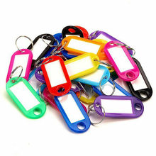 30Pcs/Bag Multicolor Plastic PP Key Card Token Luggage Tag Hotel Hotel Number Classification Card Keychain(China)
