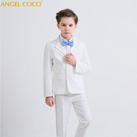 Kids/Children White Formal Boys Wedding Suits Tuxedo Suits boy Blazer Suit Mariages/Perform Dress Costume Baby Boy Baptism Gown