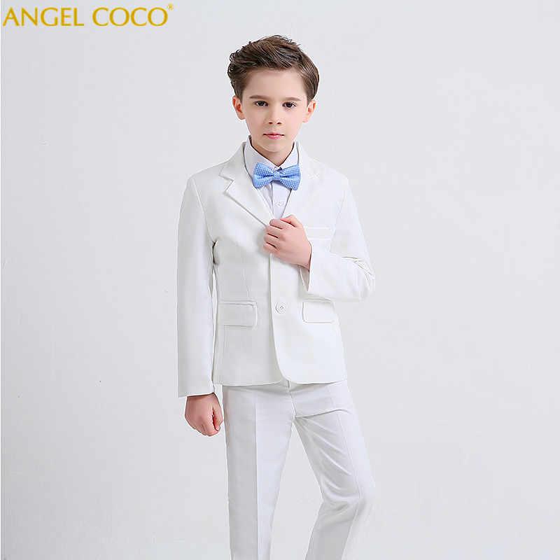 f0e3fe8e9 Kids/Children White Formal Boys Wedding Suits Tuxedo Suits boy Blazer Suit  Mariages/Perform
