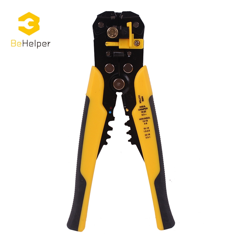 BeHelper Multi Functional Cable Wire Stripper Automatic Stripping Crimping plier Adjusting Crimper Terminal Cutter Hand Tool automatic cable wire stripper plier adjusting crimper terminal tool rasp dremel 2016