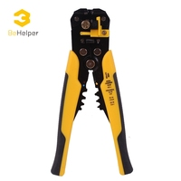 BeHelper Multi Functional Cable Wire Stripper Automatic Stripping Crimping Plier Adjusting Crimper Terminal Cutter Hand Tool