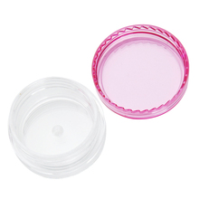 1PCS Portable Cosmetics Jar Box Makeup Cream Nail Art Cosmetic Bead Storage Pot Container Round Bottle Portable Plastic 2 color