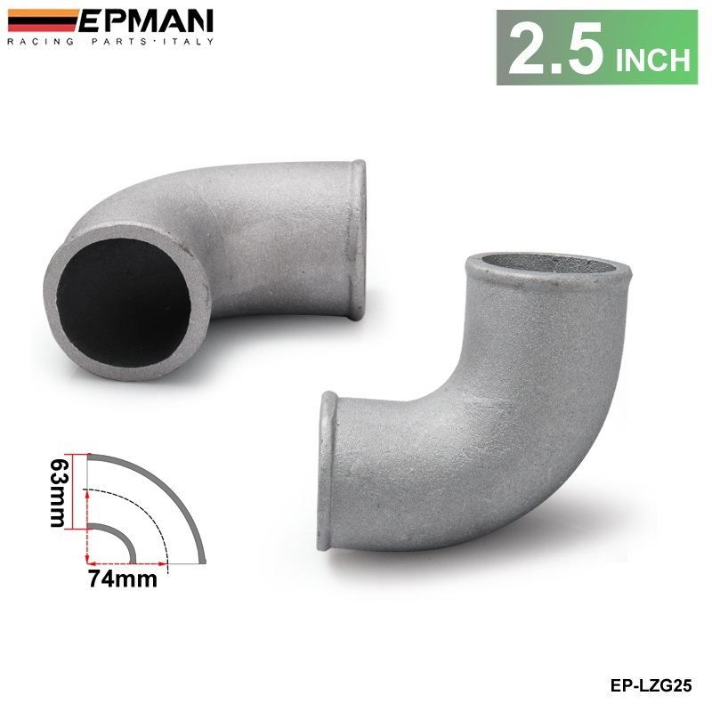 "2.5"" Cast Aluminium Elbow Pipe 90 Degree Intercooler Turbo Tight Bend For BMW E36 M3/325i/ is/ iX 92-99 93 94 95 EP-LZG25(China)"