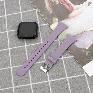 Image 4 - Bracelet Duszake pour Fitbit Versa/Versa Lite Starp Silicone souple mince mince bande de remplacement étroite pour Fitbit Versa femmes hommes