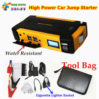 12V Multi Function 16000mAh Car Jump Starter 4USB Power Bank Compass SOS Lights 600A Peak
