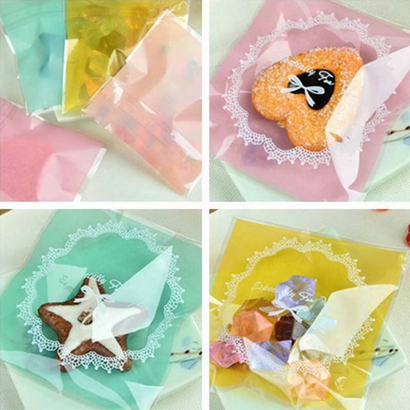 Sale 100pcs Jewelry Bags Self-Adhesive Cute Small Pouches Lovely OPP Plastic Gift Jewelry Bags Wholesale 10 Styles 50 pcs crystal clear cello bags 39 5 cm x 45cm self adhesive opp cellophane bags