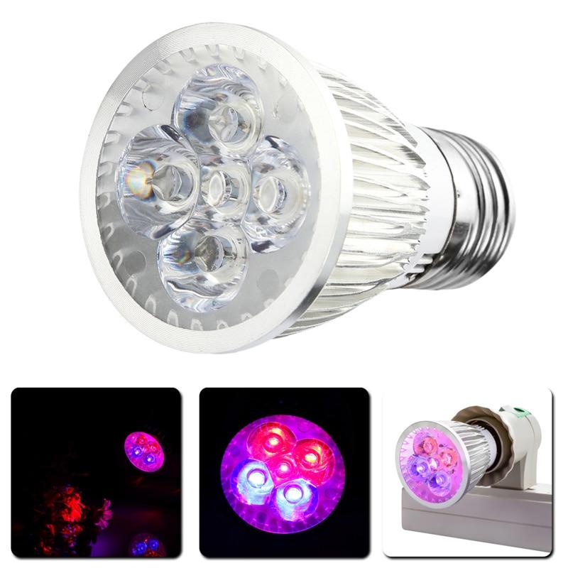 15w Full Spectrum Led Grow Lights E27 Ac 110v 220v Growing Lamp For Flower Plant Hydroponics System Aquarium Lighting