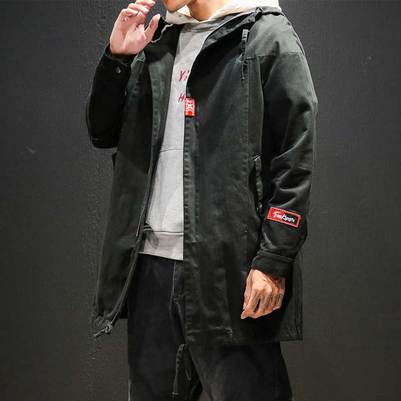 df27145a986 ... 5XL-M осенние мужские куртки Модные свободные большие размеры с капюшоном  куртки мужские высокого качества ...