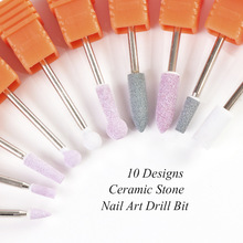 10 Type Silicone Nail Drill Rotary Burr Bits Polishing Buffer Files Manicure Pedicure Machine Accessories Art Tools