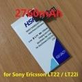 Novo chegou 2760 mah agpb009-a001 bateria do telefone móvel para sony xperia p lt22 lt22i frete grátis