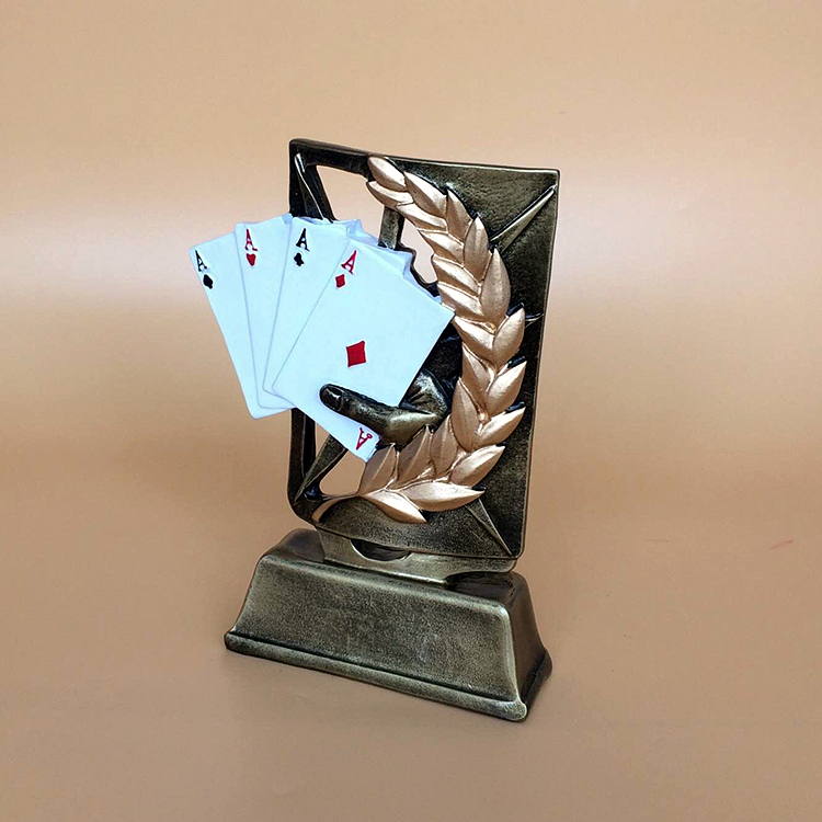 Resin poker cup Texas poker game little trophy CARDS furnishings new style blue ribbon 45 cm english premiership trophy cup barcley premiership cup cup soccer football replica trophy cup