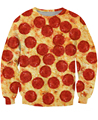 Women/Men Autumn Spring 3D Pull Pepperoni Pizza cheesy Crewneck Sweatshirts  costume Pizza Slut Sweats Hoodies camisolas