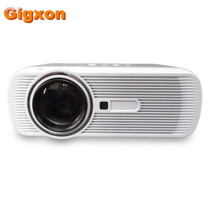 Gigxon- G80 Mini Portable Video Projector Home Cinema Theater LED Build in Stereo Speakers Support VGA/USB/SD/HDMI