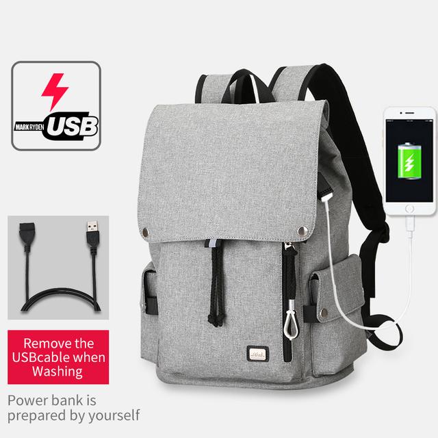 Mark Ryden New Men Backpack Bag Large Capacity Bag For Student School Bag Water Repellent Short Trip Backpack