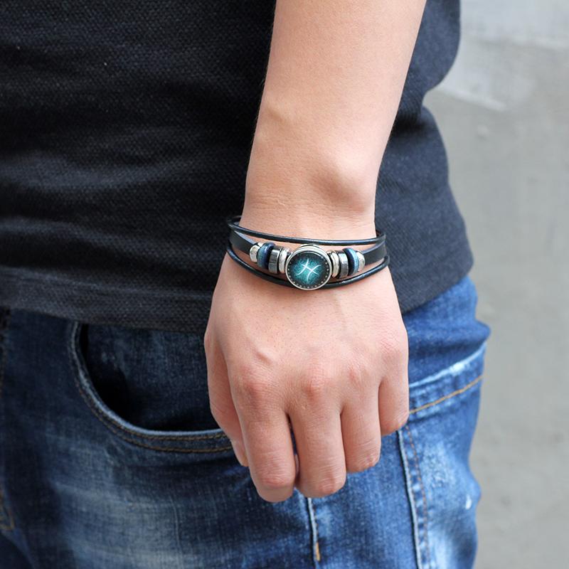 Janeyacy 12 браслеты с изображениями созвездий 2017 новые модные