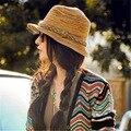 Пляж шляпы для женщин сомбреро женщин летние шляпы, девушка большой bongrace sunhat сложенный путешествия шляпа