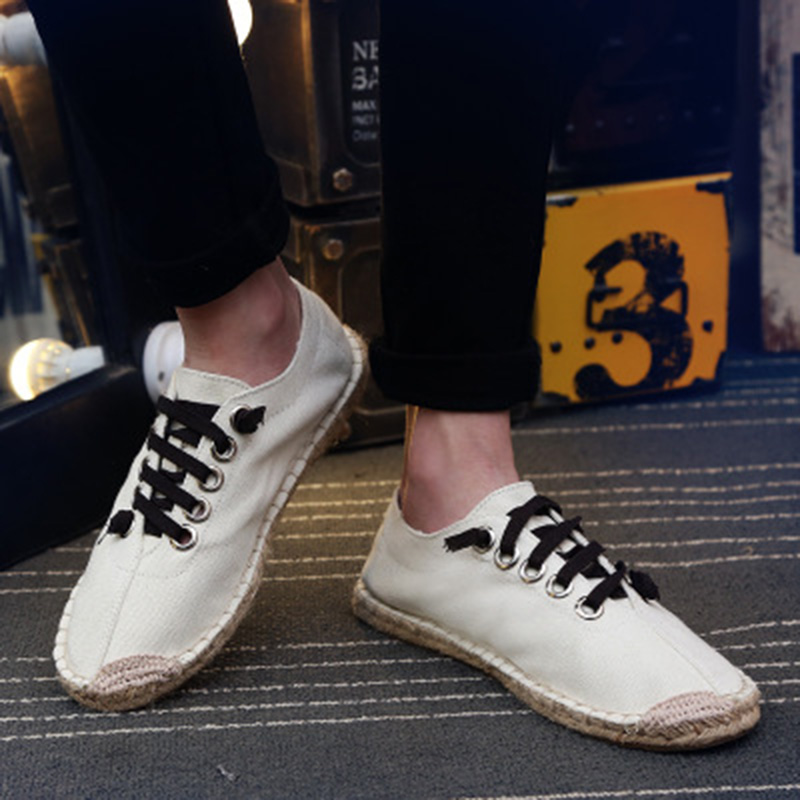 2019 New Breathable Sweat-absorbent Couple Shoes Fashion Casual Canvas Slippers Hand-stitched Hemp Fisherman Wedges Shoes NO.1642019 New Breathable Sweat-absorbent Couple Shoes Fashion Casual Canvas Slippers Hand-stitched Hemp Fisherman Wedges Shoes NO.164