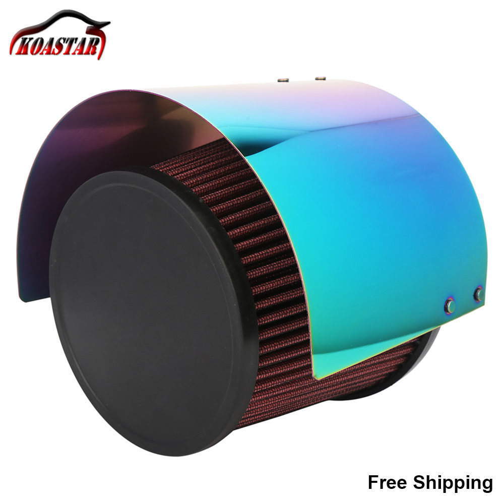 Universal Cone Stainless Steel Titanium Car Heat Shield Air Intake Filter Cover