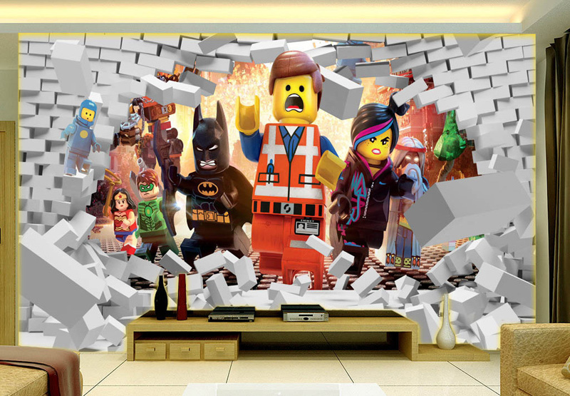 3D Lego Avengers wallpaper for walls Mural Cartoon wallpaper Kids Bedroom  Room Decor TV backdrop wall covering Photo wallpaper in Wallpapers from  Home. 3D Lego Avengers wallpaper for walls Mural Cartoon wallpaper Kids
