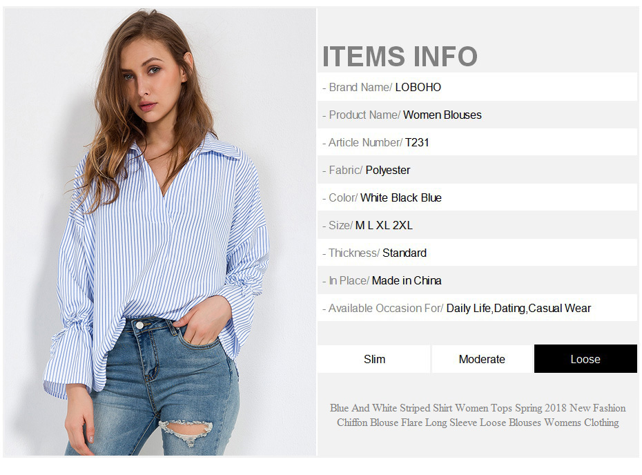 9fdc44d5d85ecf ... Fashion Chiffon Blouse Flare Long Sleeve Loose Blouses Womens Clothing.  1 ...
