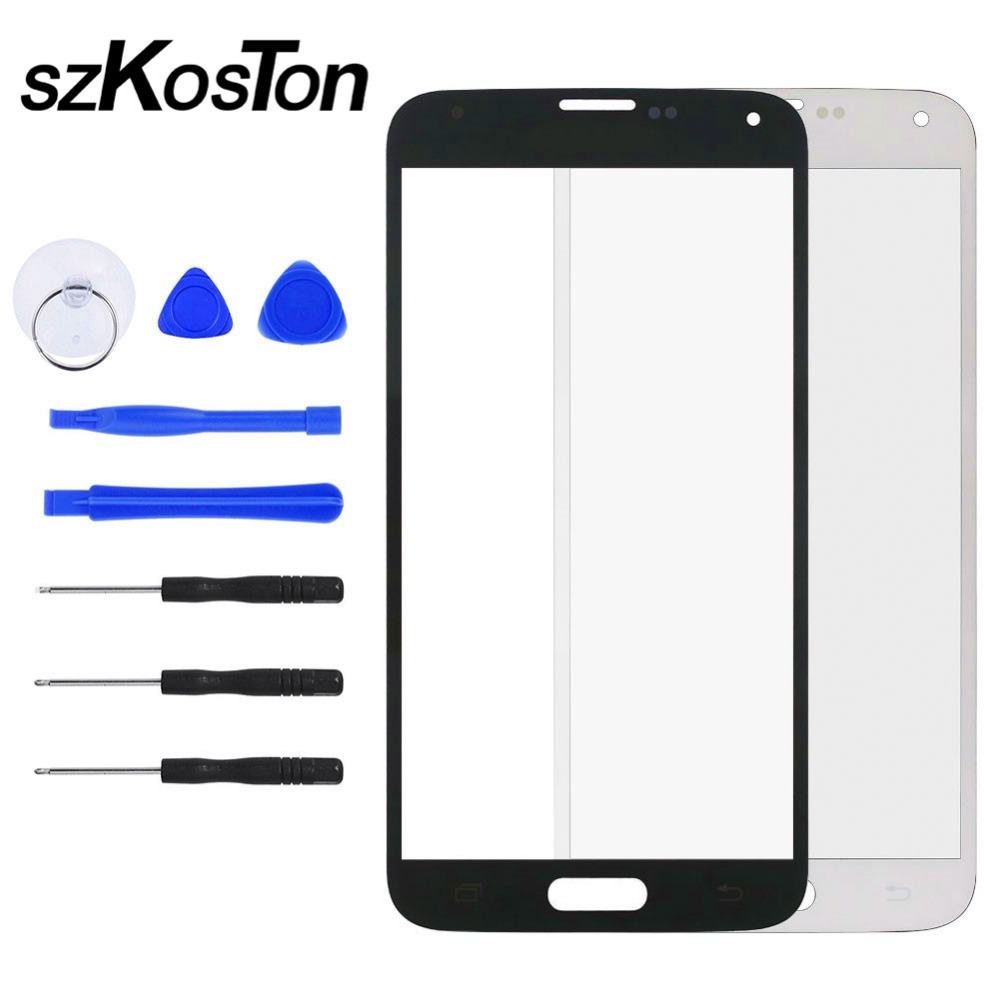 For <font><b>Samsung</b></font> <font><b>Galaxy</b></font> <font><b>S5</b></font> S4 S3 Touch Screen LCD Display Front Outer <font><b>Glass</b></font> Panel Lens Cover For i9300 i9400 i9500 Repair <font><b>Replacement</b></font> image
