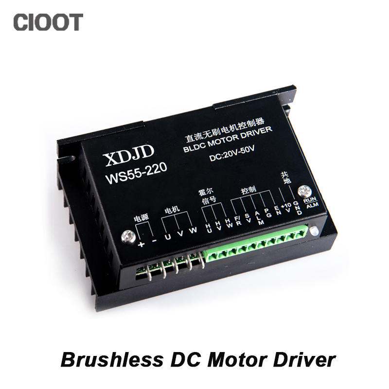 Free Shipping New CNC Controller DC 20-50V Stepper Motor Driver Brushless DC Driver For 500W Spindle Motor