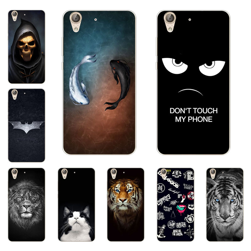 Huawei Y6 ii case,Silicon Gossip fish Painting Soft TPU Back Cover for Huawei Y6 ii Y6II Y6 2 protect Phone shell