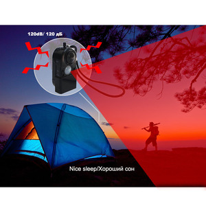 Image 2 - Topvico 3pcs Camping Travel Portable Mini PIR Infrared Motion Sensor Detector Alarm 120dB Wireless Home Security Anti theft