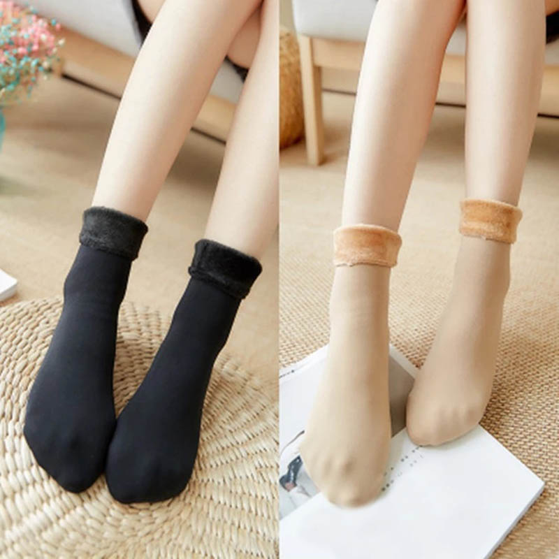Newly 1pair Women Tube Socks Winter Vevelt Thick Warm Snow Stocks Adult Floor Sleeping Socks Underwear & Sleepwears Leg Warmers